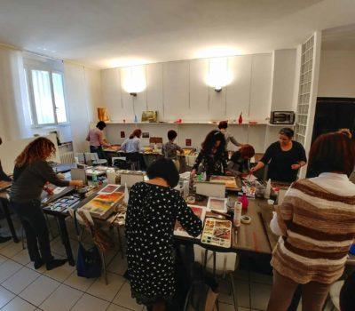 Lezione di acquerello presso Studio Gorlini 2018